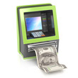 cash machine with dollar bill
