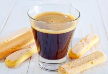 coffee and savoyardi