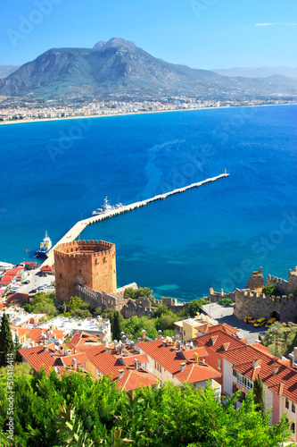 Kizil Kule (Red Tower) - main tourist attraction in Alanya