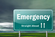 "Highway Signpost ""Emergency"""