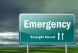 "Highway Signpost ""Emergency"""