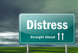 "Highway Signpost ""Distress"""