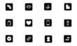 12 icônes black