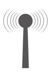Sendemast mit Funkwellen