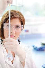 Female researcher in laboratory