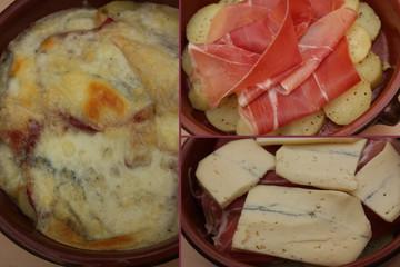 Morbier gratiné - Raclette -Jambon de montagne