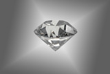 Diamond jewel on background. High quality 3d render