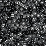 Black dice background