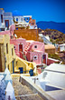 village of Oia at Santorini island in Greece