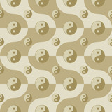seamless pattern with yin yang symbols