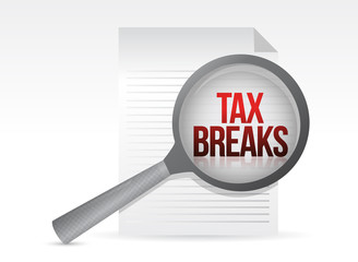 looking for tax breaks. Under a magnifier.