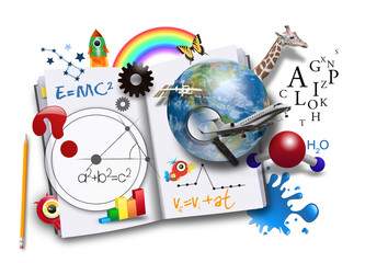 Open Learning Book with Science and Math