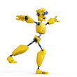 yellow robot is equilirium