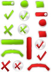 Color set of web buttons