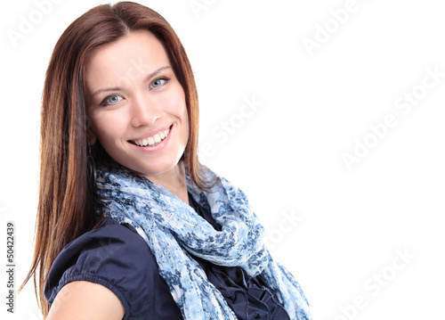 Portrait of beautiful young woman posing