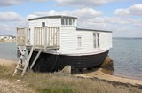 A houseboat in langstone harbour in england