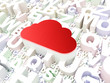 Cloud computing concept: Cloud on alphabet background