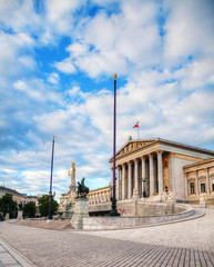 Austrian parliament building (Hohes Haus) in Vienna