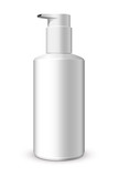 Foam Pump Bottle White: Vector Version
