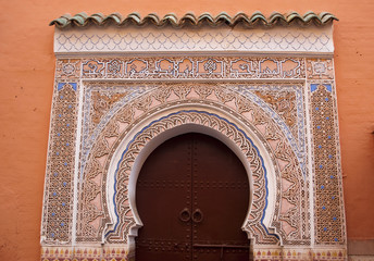 Door decorated in Arabic style (Marrakech)