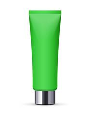 Green Long Clean Tube Of Cream: Vector Version