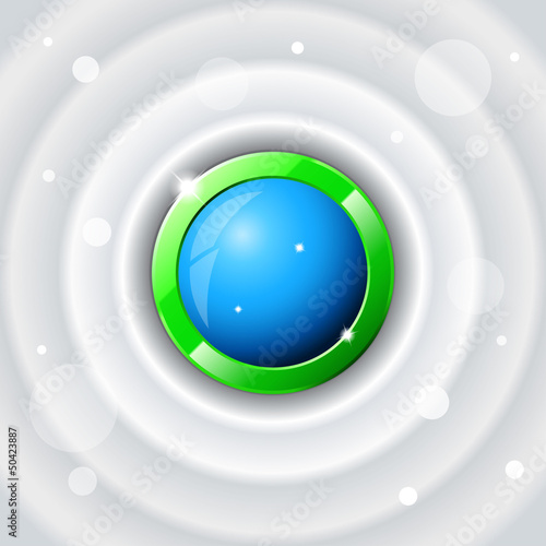 Green Circle Abstract Background