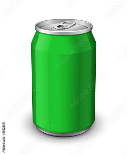 Green Aluminum Can