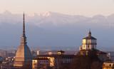 Torino (Turin), panorama with Cappuccini and Mole