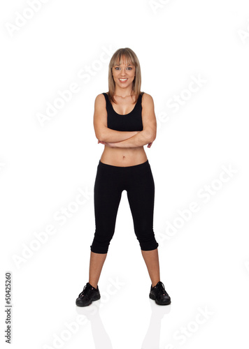Woman in sportswear