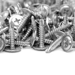 screws on white background