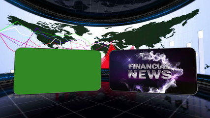 Financial News, Loop - Green Screen and Alpha Channel - HD1080