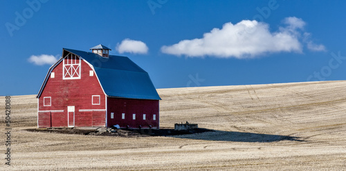 Red Barn Blue Sky Wheet fields