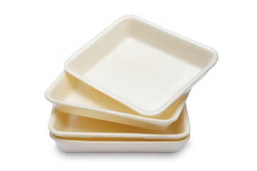 Empty Styrofoam of food container