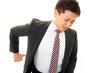 腰痛を訴える男性