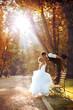Leinwanddruck Bild - European bride and groom