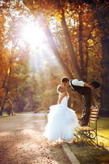European bride and groom
