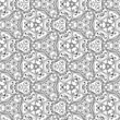 Vector seamless grey floral pattern background