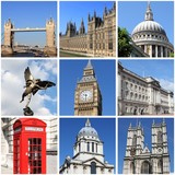London landmarks collage
