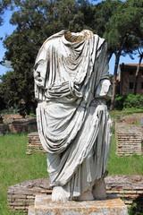 Beheaded statue of a roman senator in Rome, Italy