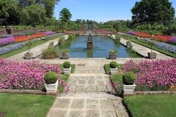 Ornamental garden in springtime