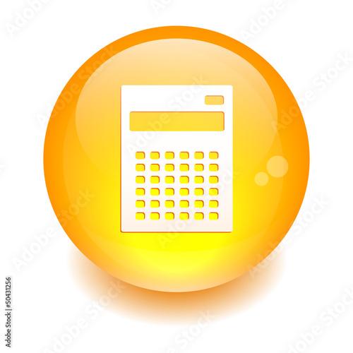 bouton sphere internet calculatrice finance orange