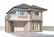 3D rendering of house exterior