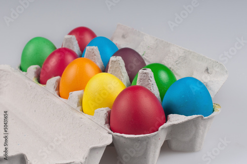 Eggs in a rows