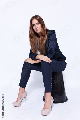 Full length portrait of an elegant young business woman
