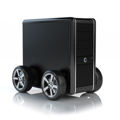 Computer on wheels