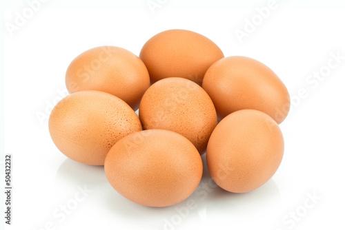 Jajka na białym tle - 50432232