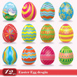 Vintage easter egg design set