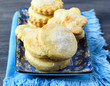 Cornmeal sugared cookies