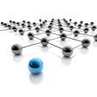 Netzwerk und Social Media - 3D Grafik / 3d Illustration
