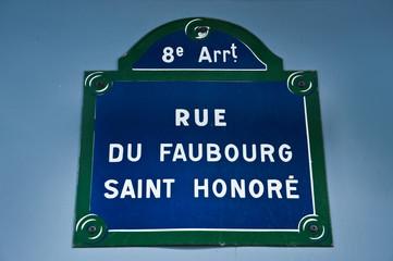 rue du Faubourg Saint-Honoré à Paris